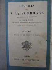 COLLECTIF. Mémoires lus à la Sorbonne ...1864