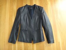 Theory Leather Jacket - Black - Size 00