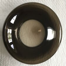 "Vintage 1999 IKEA STOCKHOLM Brown Glass Bowl Round Platter 14.5"" NEW"