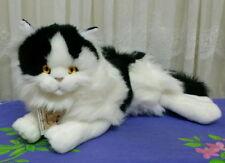 ** Laying black and white plush CAT ** by Bocchetta