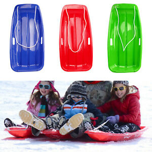 Snow Sled Grass Sand Skiing Board Outdoor Kids Adults Sledge Luge PE Tool