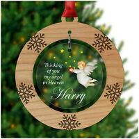 PERSONALISED Christmas Heaven Dad Mum Nanny Memorial Tree Decoration In Memory