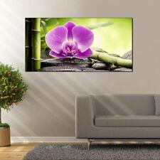 Deko Panel Grap Wandbild Motiv Orchidee rosa Bild Dekobild 50x100 cm
