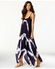 NWT Raviya Swim Swimsuit Cover Up Tie Dye Handkerchief-Hem Dress Navy Size S