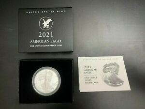 2021-S American Eagle One Ounce Silver Proof Coin (21EMN) Type 2