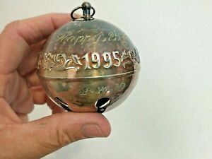 1971-1995 Wallace Silver plated 25th Edition Annual Sleigh Bell