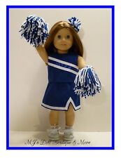 Royal Blue & White Cheerleader Set fits American Girl Doll
