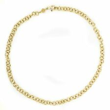 Rosato Necklace Made In Italy 14K Yellow Gold  Chain Link 8.8 Grams 18 Inches