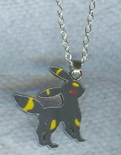 UMBREON, Pokemon Charm, Pendant with .925 Silver Necklace - P856