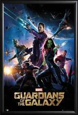 Framed Guardians of the Galaxy Super Heros in Premium Black Wood Frame
