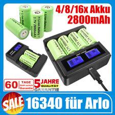 4/8/16x 2800mAh CR123A 16340 Wiederaufladbare Akku & Ladegerät für Arlo Kamera