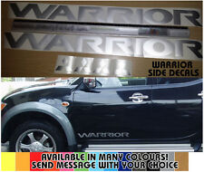 Mitsubishi L200 Warrior Side decals stickers, Barbarian, Trojan, Mitsi, Pajero