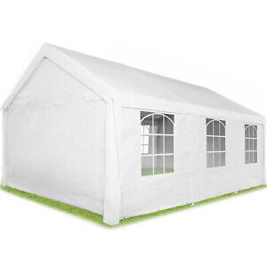 Gazebo da Giardino Tenda Feste Campeggio Parasole Tendone Impermeabile Bianco nu