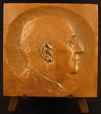 Medaille plaque en bronze au Docteur Gaston Métivet sc Cazady 62 mm 136 g medal