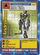 TOEI DIGIMON 5 CARD LOT - DIGI-BATTLE SERIES 1 - Bo-11 ANDROMON + 4 COMMON CARDS