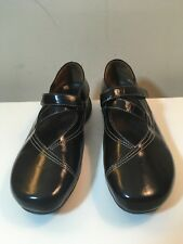 Women's Wolky  Black Patent Leather Cross-Strap Mary Janes Size 8.5-9/EU 40