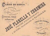 Tarjeta de Presentación ( finales siglo XIX ) JOSÉ PENELLA ( Pintor Escenógrafo