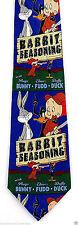 Looney Tunes Rabbit Seasoning Mens Silk Neck Tie Cartoon Novelty Necktie New