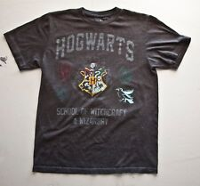HOGWARTS SCHOOL OG WIZARDRY WITCHCRAFT T Shirt (Graphic T) Gray Small Mens