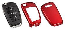 AUDI SEAT Schlüssel Cover Key Hülle Funk Fernbedienung Rot Metallic C03