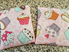 """MICROWAVE SMALL WHEAT BAGS - HAND/POCKET WARMERS- CUPCAKE FABRIC- 3"""" X 3"""" APPROX"""