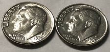 1990 P and D 2 Coin Roosevelt Dime Set In Great Condotion