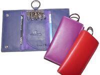 Ladies Leather Key Holder / Key Case Wallet Key Ring Soft Leather 6 hooks 345