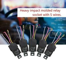 5pcs/Set 12V 30/40 Amp 5-Pin SPDT Automotive Relay with Wires & Harness Socket