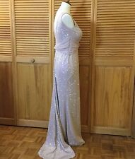 Vera Wang Ball Gown Open Back Iridescent Nude Mermaid Train Bridesmaid Pageant 6