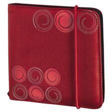 HAMA Custodia DVD/CD Wallet Nylon per 24 dischi Rossa - H95669