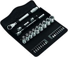 "Wera 004048 Zyklop 3/8"" drive metal switch slim ratchet 29pc socket set metric"