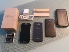 Samsung Galaxy S4 GT-I9500 16GB T-Mobile Smartphone Cell Black Leather Sleeve