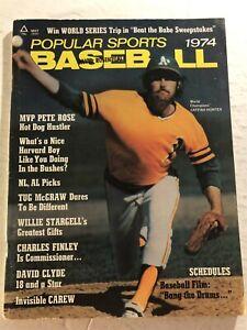 1974 Popular Sports OAKLAND A's JIM HUNTER No Label REDS Pete Rose MVP Hustler