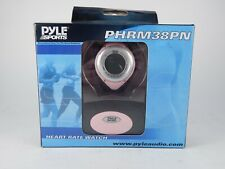 Pyle Sports PHRM38PN Heart Rate Monitor Watch Calories Pink Open Box