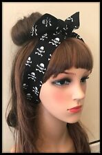 Skull Crossbones Headband Hairband Bandana Hair Neck Scarf Head Tie Band Pirate