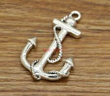 3 Large Anchor Charms Sailing Ship Boat Charms Antique Silver Tone 35x55 2725