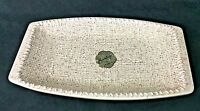 Vintage Inarco Pottery BURLAP Tray E-3474 Mid Century Modern 1960s