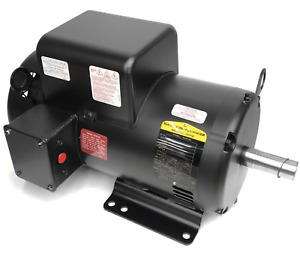 Baldor Motor, 36K907T466, 6.2 HP, 230v, 1725 RPM 184TZ FRAME 1PH, 60Hz