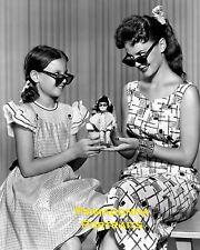 NATALIE & LANA WOOD 8X10 Lab Photo B&W 1950s STUNNING GLAMOUR DOLL PORTRAIT