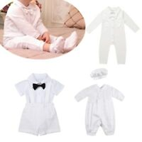 Baby Boys Romper Outfit Party Wedding Formal Suit Jumpsuit Smart Set 0-18 Months
