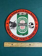 Htf Vintage Heineken Beer Cardboard Advertising Sign Display 8.25� Mancave