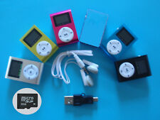 MP3 Player mit LCD Screen mit 8GB Micro SD Karte Clip-Funktion Aluminium Metall