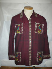 Rare vintage Guatemalan cabana/shirt jacket  with Quetzal bird images