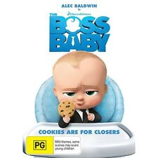 THE BOSS BABY-DVD-Voice Of Alec Baldwin-Region 4-New AND Sealed