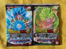 More details for 2x dragon ball super tcg, destroyer kings sealed booster packs (b06)! rare!