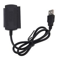 3 en 1 USB 2.0 vers IDE SATA 2,5 / 3,5 '' Disque HDD Cable d'Adaptateur Noir WT