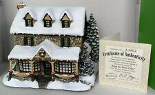 More details for rare ltd ed thomas kinkade hawthorne christmas village 'from the heart gifts'coa