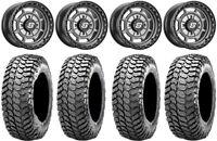 """Sedona Rift 14"""" Wheels Grey 30"""" Liberty Tires Polaris RZR XP 1000 / PRO XP"""