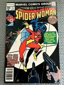 """Marvel Comic SPIDER-WOMAN #1 1978 High Grade NM Bronze Age """"LOOK"""" No Reserve"""