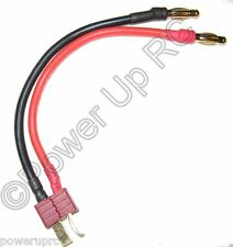 Deans Ultra Charge Cable Deans Male 4mm Banana Plug Lipo Nylon T-Connector Cable